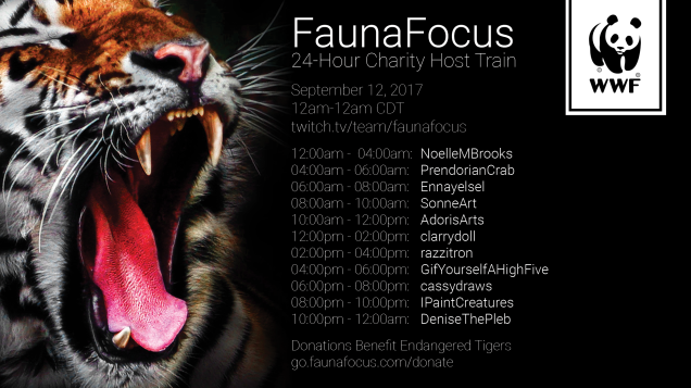 FaunaFocus 24-Hour Charity Host Train