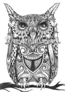 Tribal Art Series: Owl