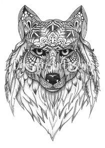 Tribal Art Series: Wolf